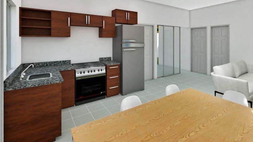 Modelo Amaranto Ampliada en Jinotepe, $ 50,000 Residencial Camino Verde, 81 mts²